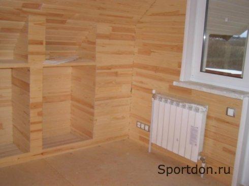 Отделка стен в деревянном доме
