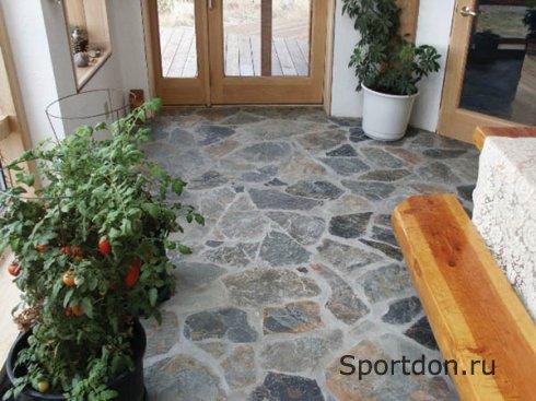 Как сделать в доме каменный пол