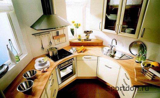 Размещение мебели в маленькой кухне